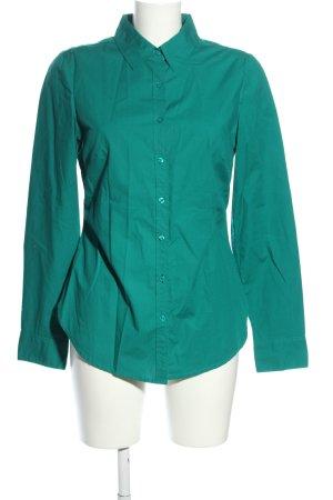 Peckott Langarm-Bluse grün Business-Look