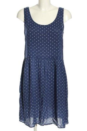 Peckott Minikleid blau-weiß Punktemuster Casual-Look