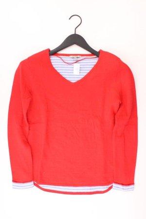 PECKOTT Pullover Größe S rot aus Baumwolle