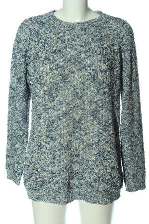 Peckott Crewneck Sweater blue-natural white flecked casual look