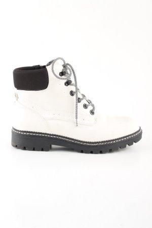 Peckott Sneeuwlaarzen wit-zwart casual uitstraling