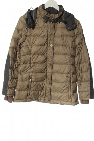 Peckott Quilted Jacket brown quilting pattern casual look