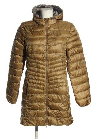 Peckott Pikowany płaszcz zielony Pikowany wzór W stylu casual
