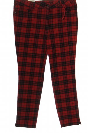 Peckott Jersey Pants black-red check pattern casual look