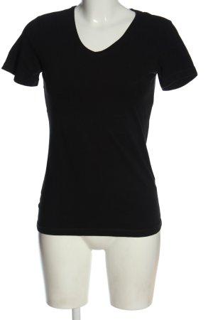 Peckott T-Shirt schwarz Casual-Look