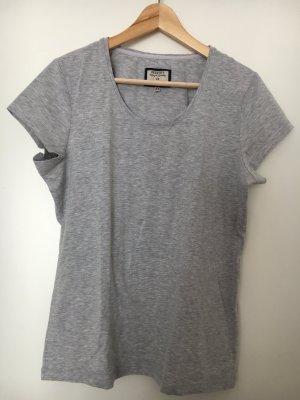 Peckott T-Shirt grau