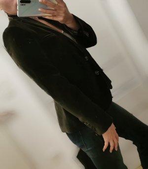 Pedro del Hierro Blazer Jacke Samtoptik Dunkelgrün Olivgrün Gr. 36