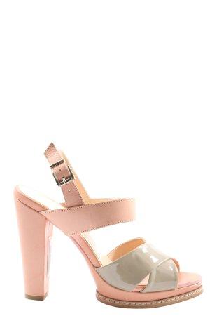 Pedro del Hierro Peeptoe Pumps pink-wollweiß Casual-Look