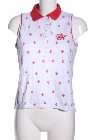 Pedro del Hierro Polo Top white-red allover print casual look