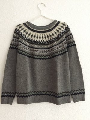 Pedro del Hierro Norwegian Sweater grey wool