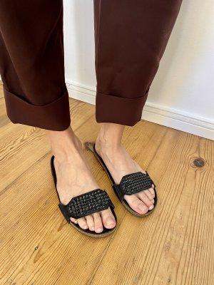 Pedro garcia Sandały japonki z rzemykami czarny