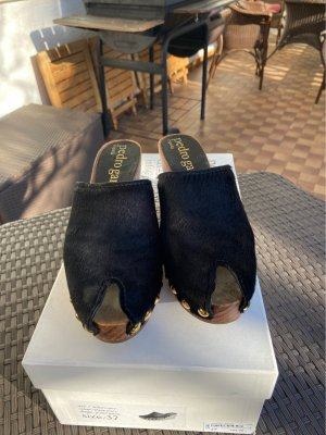 Pedro garcia Socque noir-brun cuir