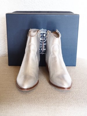 Pedro Miralles Booties silver-colored leather