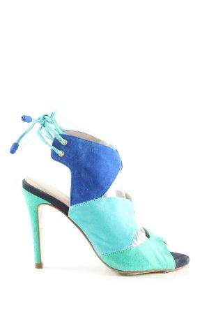 Pedro Miralles High Heel Sandaletten türkis-blau Elegant