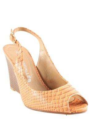 Pedro Miralles High Heel Sandaletten apricot-hellbraun Animalmuster