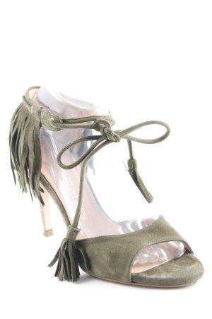 Pedro Miralles High Heel Sandaletten waldgrün Wickel-Look