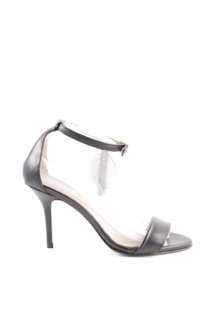 Pedro Miralles Riemchen-Sandaletten schwarz Business-Look