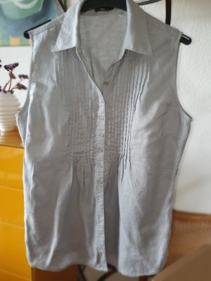Peek & Cloppenburg Linen Blouse light grey-pale blue linen