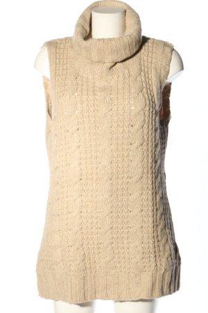 Peek & Cloppenburg Długi sweter bez rękawów jasnobeżowy