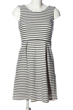 Peek & Cloppenburg Minikleid weiß-schwarz Streifenmuster Casual-Look