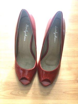 Peep Toe Gr. 37 Lack rot Schuhe Pumps
