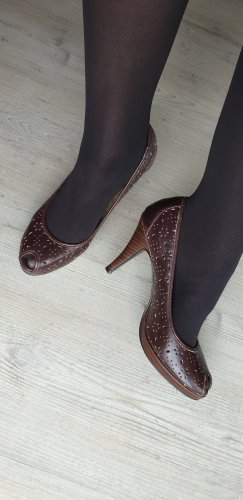 Peep Toe High Heel Braun Gr. 40 NEU