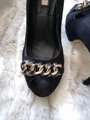 peep toe high heels
