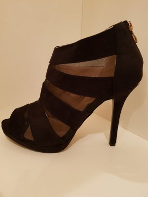 top or Peep Toe Booties black-gold-colored