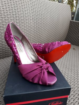 Buffalo Peep Toe Pumps violet