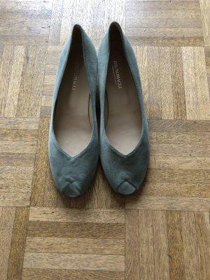 Bruno Magli Platform Sandals lime-green leather