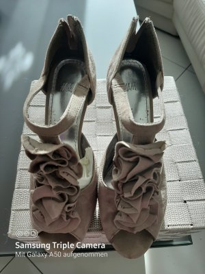 Hennes Collection by H&M Tacones con punta abierta gris claro-taupe