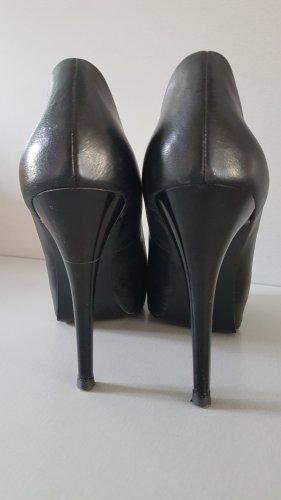 Guess Peep Toe Pumps black leather