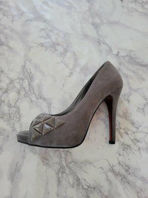 SDS Peep Toe Pumps grey