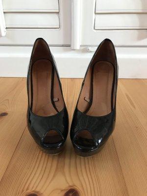 Peeptoe High Heels von Zara in schwarz, Größe 39