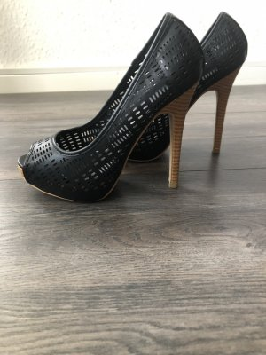 Peep Toe Pumps black-light brown
