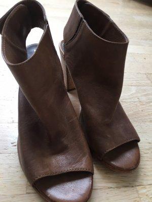 Peep Toe Pumps light brown-brown leather