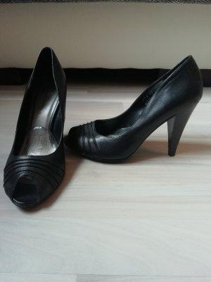 Alessandro Bonciolini Peep Toe Pumps black