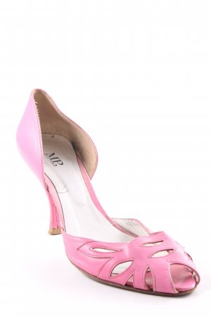 Peeptoe Pumps neonpink Party-Look