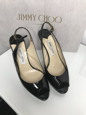 Jimmy Choo Décolleté modello chanel nero Pelle