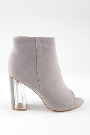 Peep Toe Booties light grey business style