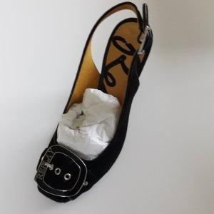 Pepe Jeans Peep Toe Pumps black