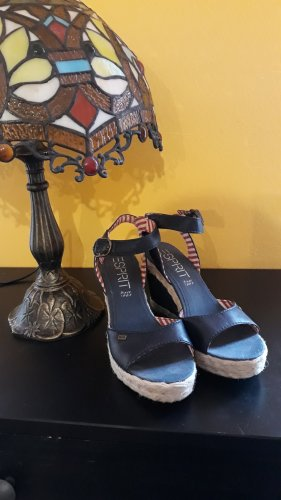 Peeptoe Wedges in Blau von Esprit, 38