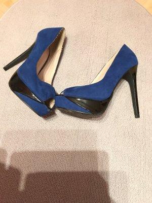 Bianco Peep Toe Pumps blue-black