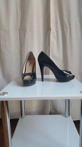 Peeptoes High Heel Schuhe - black