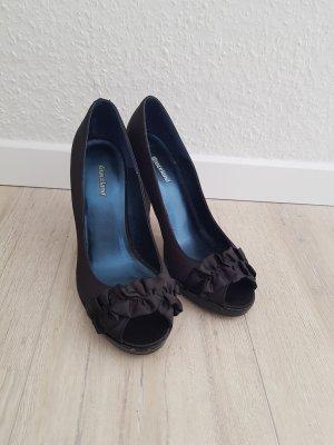 Graceland Escarpins à bout ouvert noir-bleu foncé