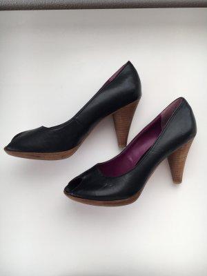 Peeptoes s.Oliver schwarz/violett