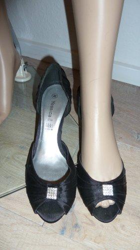 Peeptoes schwarz mit Strass Gr.40