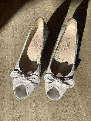 ara Peep Toe Pumps white-natural white