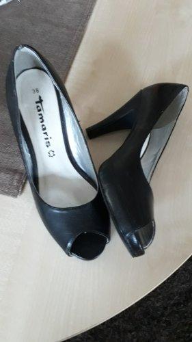 Tamaris Peep Toe Pumps black
