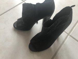 H&M Escarpins à bout ouvert noir